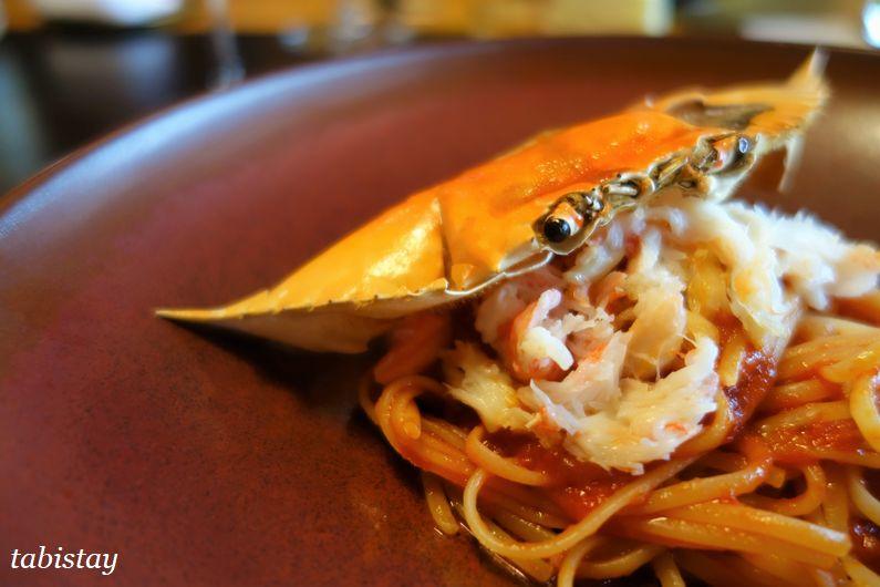 イタリア料理 祇園 マメトラ ワタリ蟹のトマトソースパスタ