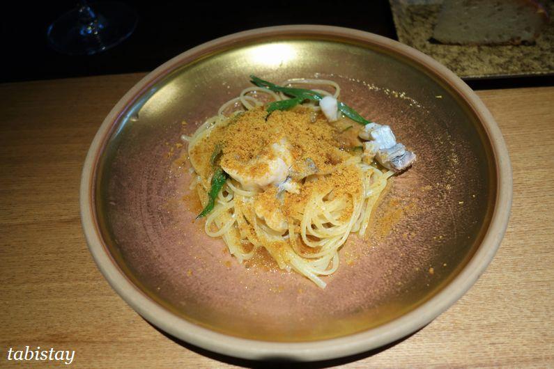 イタリア料理 祇園 マメトラ カラスミのバベッティーニ